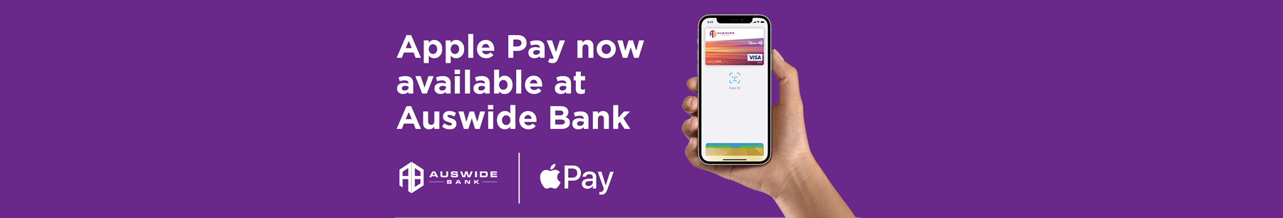 Apple Pay now available at Auswide Bank!
