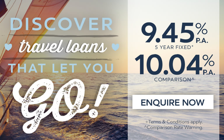 Discover travel loans that let you go!