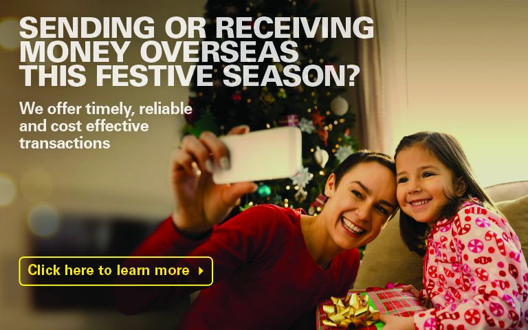 Sending or receiving money overseas this festive season?