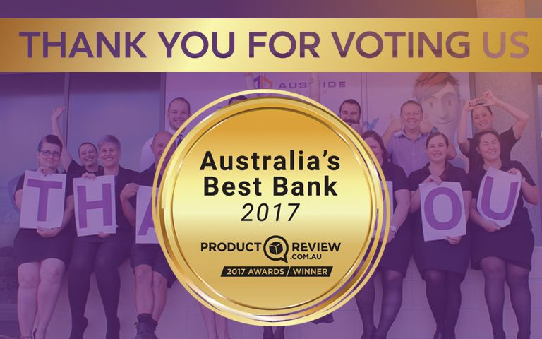 Thank you for voting us Australia's Best Bank 2017
